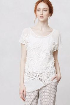 Coneflower Lace Blouse - Anthropologie.com
