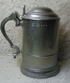 Wilton Armetale Pewter Hinged Lidded Tankard Stein Mug Noggin ~ USA ~ Free Ship