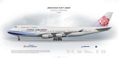 https://flic.kr/p/MgARDH | Boeing 747-400 China Airlines B-18210 | www.aviaposter.com