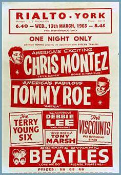 13.3.1963; the beatles - chris montez - tommy roe; gbr, york, rialto theater; (db) (t)