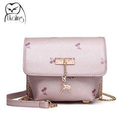 $9.97 (Buy here: https://alitems.com/g/1e8d114494ebda23ff8b16525dc3e8/?i=5&ulp=https%3A%2F%2Fwww.aliexpress.com%2Fitem%2F2016-new-all-match-leisure-square-Mini-printing-bag-shoulder-bag-messenger-bag-bag-fashion-tide%2F32695646303.html ) Mini Women Bag 2016 Summer Woman Message Bags PU Leather Sac a Main Women Pink Satchel Chain Crossbody Purse with Metal Deer for just $9.97