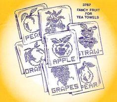 Aunt Martha 3787 - Fancy Fruit for Tea Towels