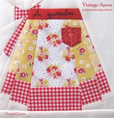 Vintage Apron block (from Charise Creates)