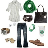 Great outfit to meet my girlfriends at Starbucks.