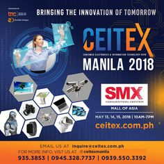 See you at happening on September 2019 at the SMX Convention Center, Mall of Asia Complex, Pasay City! Swedish Design, Convention Centre, Upcoming Events, Manila, Philippines, Consumer Electronics, Innovation, Technology, Tech
