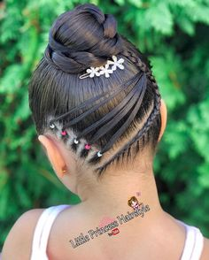 Cute Little Girl Hairstyles, Black Girl Braided Hairstyles, Girls Natural Hairstyles, Pretty Hairstyles, Medium Hair Styles, Curly Hair Styles, Natural Hair Styles, Girl Hair Dos, Ponytail Styles