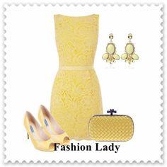 Butter yellow dress