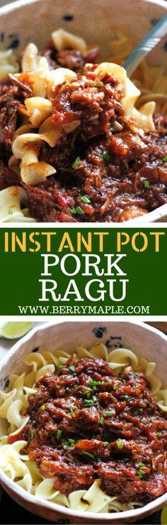 instant pot ragu recipe #instanpot #pork#ragu