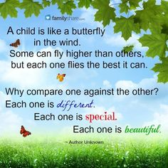 A child is like a butterfly