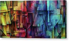 ' Remnants of Reason ' Canvas Print / Canvas Art by Michael Lang Got Print, Acrylic Art, Stretched Canvas Prints, Canvas Material, Geometric Shapes, Find Art, Fine Art America, Giclee Print, Canvas Art