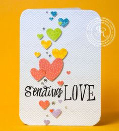 hearts are from a Martha Stewart border punch - card by Jennifer McGuire
