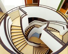 Double Helical Stairs in a kindergarden by Noorlag  De Jong Architectuur