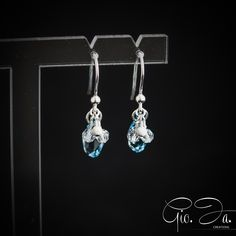 Crystal Navy Earrings