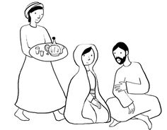 1000 images about marthe et marie on pinterest mary and for Mary and martha coloring page