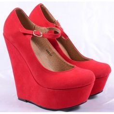 Pantofi de Dama Little Shoes Red Wedges, Shoes, Fashion, Moda, Zapatos, Shoes Outlet, Fashion Styles, Shoe, Footwear