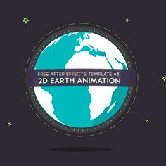 Here is my long overdue 3rd free After Effects Template. It's a 'trendy 2D' earth animation. You can use it for different purposes, for example as background for your titles or part of a longer 2D animation.