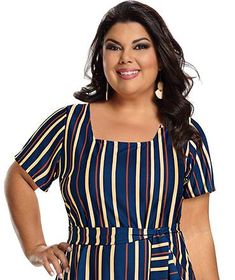 Fabiana Karla by Hiroshima - Vestido em jersey acetinado Hiroshima, Moda Plus Size, Plus Size Fashion, Women, Black Dress Outfits, Seersucker Dress, Clothing Templates, Stylish Dresses, Patterned Dress