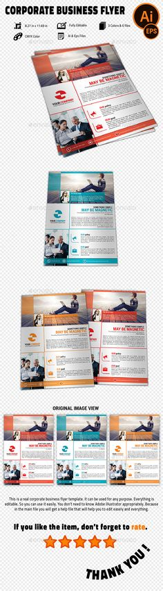 Business Flyers Business flyers, Flyer template and Business - corporate flyer template