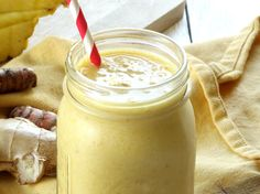 This turmeric smoothie is packed with fresh pineapple and banana, for a healthy, refreshing drink that tastes like a piña colada.