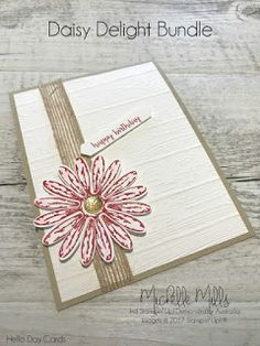 Michelle Mills - Ind. Stampin' Up! Demonstrator Brisbane, Australia. FB: Hello Day Cards. Daisy Delight BUndle by Stampin' Up!®
