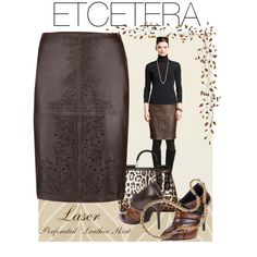 """Etcetera Laser Skirt"" by lee522 on Polyvore"