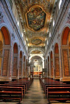 Sorrento. Interno della chiesa del Seminario Arcivescovile. by fotoaldo46, via Flickr