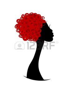 Female head silhouette for your design photo Female Head, Applique Designs, Vector Art, Minnie Mouse, Clip Art, Silhouette, Ornaments, Disney Characters, Illustration