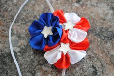 Memorial Day Fourth of July Patriotic  Headband Toddler Newborn Infant Custom Size