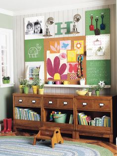 For a mudroom or playroom