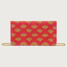 Amira Cross-Body Clutch in Pink and Coral, $35.95, from Shiraleah