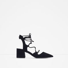ZARA - NEW IN - LACE-UP POINTED HIGH HEEL SHOES