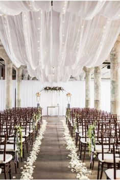 Wow! Ceiling draping