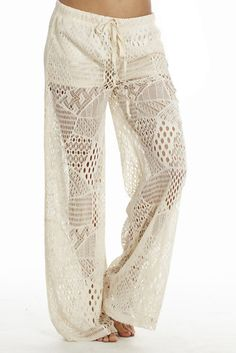 These gorgeous wide leg crochet Beach pants are perfect for the beach and for any time of the year. These pants will flatter everyone who wears them. They look great with a sweater, bikini top or anyt