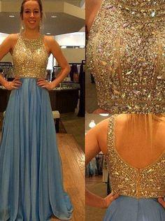 Fashion Prom Dress Beaded Top, Prom Dresses, Graduation Party Dresses, Formal Dress For Teens, BPD0138