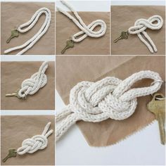 """<input class=""""jpibfi"""" type=""""hidden"""" ><p>Here is a simple DIY tutorial to make an easy knot key holder. It looks very stylish! It is very easy to make. All you need is just some rope or cord and a keyring. Simply follow the step by step tutorial in the photos and you can finish it …</p>"""