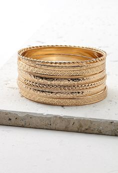 Lot de Bracelets à Motif Gravé - Bijoux - 1000131966 - Forever 21 EU