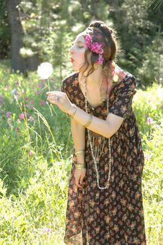 Indian Cotton Dress... Gypsy Boho Dress...  by AstralBoutique, $32.00
