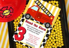 Firetruck Party Invitation - Firetruck Birthday - DIY Printable by Amanda's Parties To Go. $14.00, via Etsy.