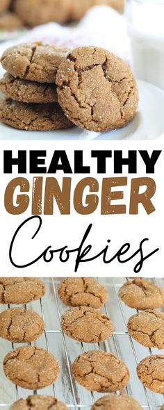 These Healthy Ginger Cookies are the best dessert! They're super soft and moist. Perfect for every occasion!