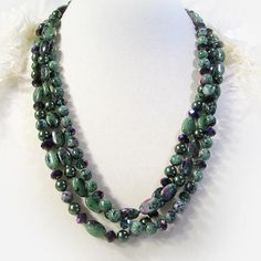 ruby-zoisite necklace - Google Search