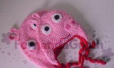 Touca da Peppa Pig  Faça a alegria dos seus filhos =)    Tamanhos  -P (3 a 10 meses)  -M (10 meses a 3 anos)  -G (4 anos a 7 anos)  -Adulto R$ 47,50