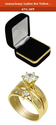 JamesJenny Ladies Set Yellow Gold Plated 0.9 ct Round CZ Solitaire Ring Size 4. Comes with a jewelry box. This beautiful and fancy ring by jamesjenny is crafted with care to provide the best quality possible. Jamesjenny uses the best materials to make our products more shiny and durable for our customers. We care each and every customer to provide 100% satisfaction.