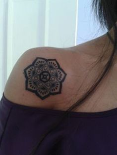 Lotus tattoo- The lotus flower is a timeless symbol of beauty, strength and wisdom. Like the flower, which must rise from mud before blossoming, we too can learn to trust the unseen path that leads to sunlight. LOVE THE PLACEMENT Future Tattoos, Love Tattoos, Beautiful Tattoos, Body Art Tattoos, New Tattoos, Tatoos, Lotus Tattoo, Mandala Tattoo, Lotus Mandala