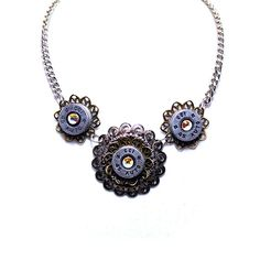 Handmade Bullet Shell Casing Necklace by Diamonds and Coal. #bullet #jewelry #handmade