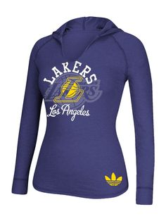 3a09bcf2b28 Los Angeles Lakers Original Women s Career Long Sleeve Hooded T-Shirt –  Lakers Store
