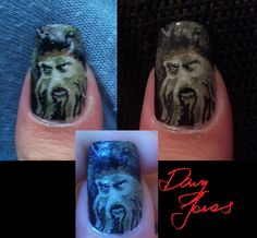Pirates of the Caribbean Davy Jones nail art by on DeviantArt Band Nails, Prince Of Persia, Davy Jones, Disney Nails, Nautical Fashion, Pirates Of The Caribbean, Halloween Nails, Cute Nails, Hair And Nails