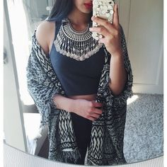 Mystery Ancient Coins Bib Necklace #fashion #style #outfit #silvernecklace #statementnecklace - 29,90 € @happinessboutique.com