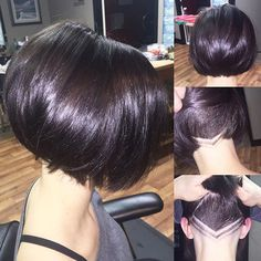 There is nothing refreshing than girl with a bob hairstyle! Here we have rounded Girls Bob Haircuts that you will definitely adore! The classic bob is a. Messy Bob Hairstyles, Short Bob Haircuts, Undercut Hairstyles, Pretty Hairstyles, Hair Undercut, Short Bob With Undercut, Bob Haircut For Girls, Haircut And Color, Short Hair Cuts