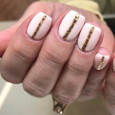 nail art, short nails, gel nails, summer nails, pink nails, natural nails, emma does nails, white nails, cream nails, delicate peach by lechat, gold nails