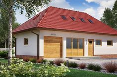 Projekt domu BW-03 wariant 5 108,7 m2 - koszt budowy - EXTRADOM Outdoor Decor, Home Decor, Little Cottages, Decoration Home, Room Decor, Home Interior Design, Home Decoration, Interior Design